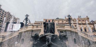 Praça Ramos ganha revitalização e reforma da fonte